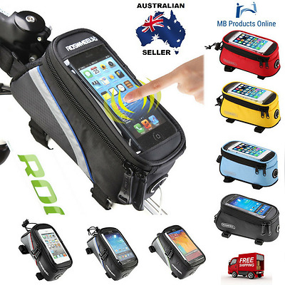 Roswheel Bicycle Bags Cycling Bike Frame Iphone Case Holder Pouch Mobile Phone