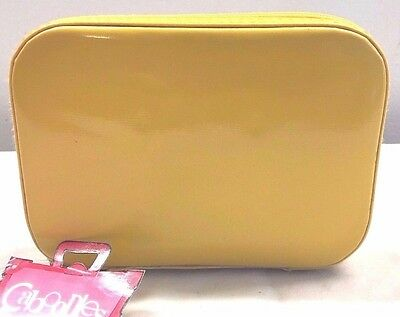 Caboodles Cosmetic Carry Case Makeup Organizer Yellow First Crush Small NWT