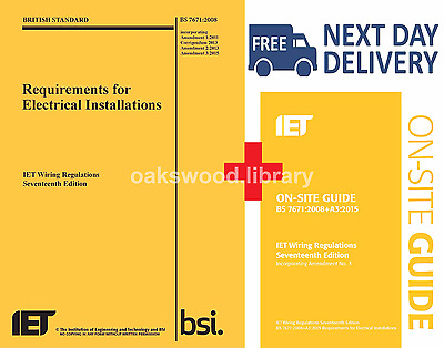 IET Wiring Regulations BS7671 9781849197694 + On-site Guide 9781849198875 2015