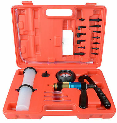 21p Handheld Vacuum Pump Brake Bleeder Bleed Fluid Test Kit Hydraulic Syphon Set