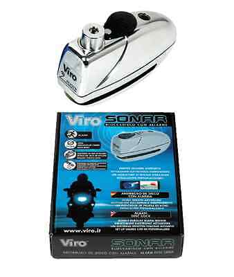 Padlock Viro Sonar Disc Lock With Alarm 199 Chrome Moto Ant-Itheft System M.a.s