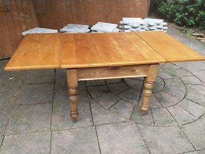 Victorian solid pine extending kitchen/farmhouse table