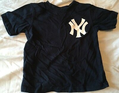 Yankees Blue T Shirt Size 2T Jeter 2