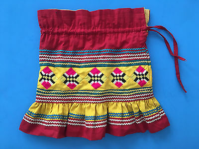 Seminole Indian Patchwork Skirt Drawstring Child/Toddler reversible