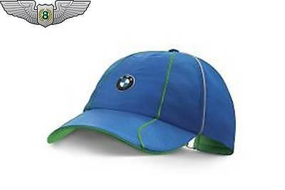 BMW New Genuine Athletics Unisex Sports Baseball Cap Hat (Black   Royal  Blue) 52a1b6e19c1c