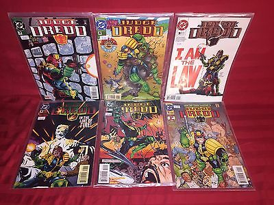 Dc Comics Judge Dredd 1, 3, 6, 8, 9 & 14 Lot Of Six Nm/mt Unread Comics