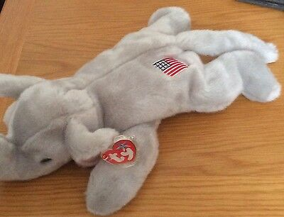 TY Righty the Elephant Beanie Buddy 12""