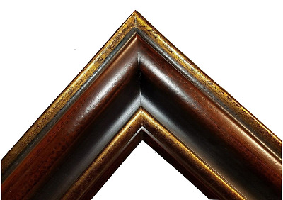 "5.375"" WIDE dark Brown Gold Ornate Oil Painting Wood Picture Frame 83A"