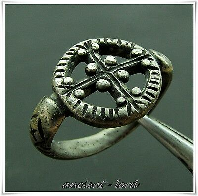 ** CROSS ** Byzantine ANCIENT Silver Ring !!!