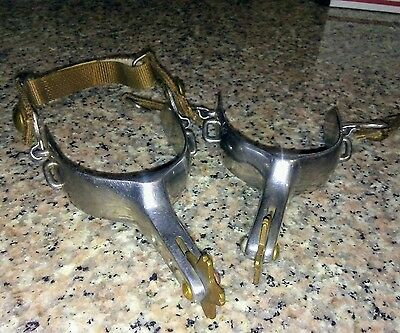 Vintage silver plated western spurs not marked