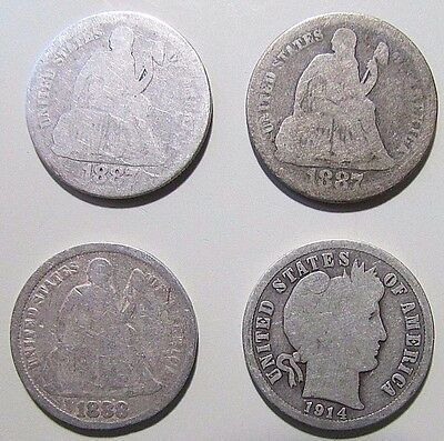***4***Old Silver Coinage...Mixed Years And Conditions