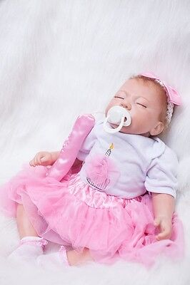 Silicone Reborn Realistic Baby Doll Soft' Newborn cloth Lifelike Full Handmade