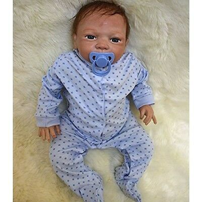 Silicone Real Reborn Baby Doll Soft 22 '' Newborn cloth Lifelike Full Handmade