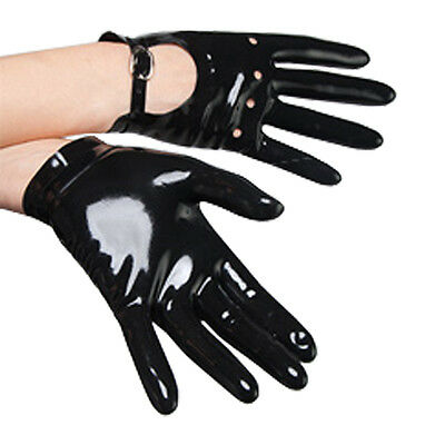 Sexy Black Latex Rubber Gloves Gummi 0.4mm Club Wear for Catsuits Dress