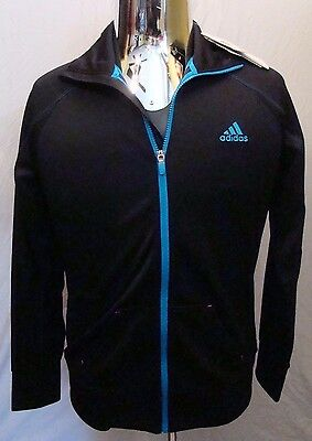 Adidas Game Day Track Jacket Men's  Black Solar Blue With Tags Size Medium