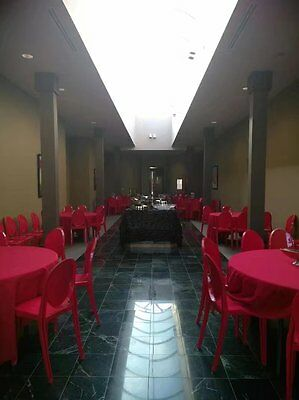 100 Banquet Restaurant Dining red Chairs -heavy strong -best offer $20 per