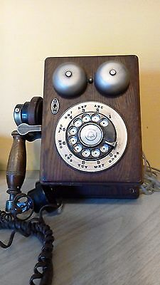 Vintage Western Electric Country Junction Wood Wall Rotary Telephone 1980's