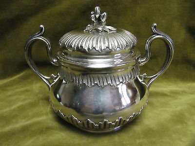 late 19th c french sterling silver (950) sugar bowl rococo st E Tetard 418gr