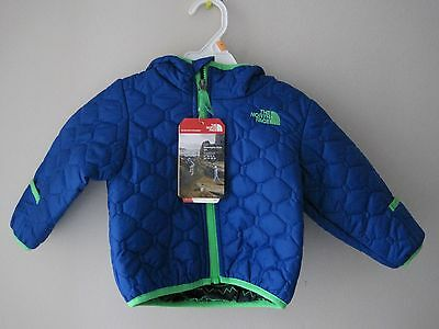 Nwt-The North Face Infant Reversible Mossbud Jacket/monster Blue 6-12 Months