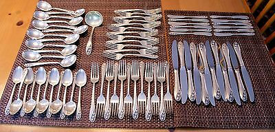 Gorham Sterling Silver Flatware  - Lily of the Valley - 72 Pieces - service 12*