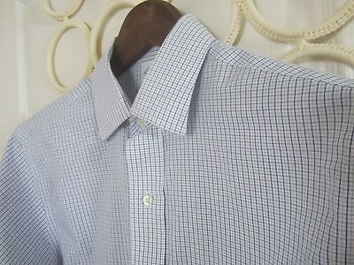 Mens Size 15  33 Brooks Brothers Slim Fit Dress Shirt White Striped