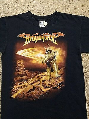 Dragonforce 2 Sided T Shirt M Tour Dates On Back
