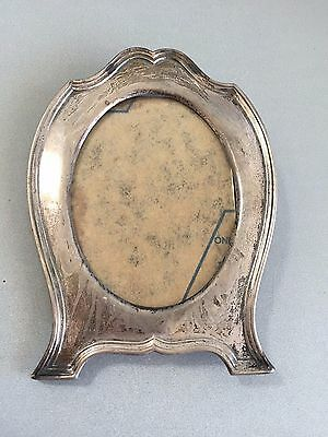 ANTIQUE REED & BARTON Beautiful Sterling Silver Oval Picture Frame Model H22