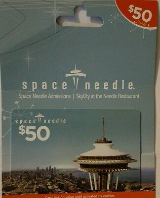 Space needle / skycity $50 gift card
