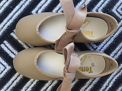 Tempo By Leo's 806W Tan Tap Shoes Girls  Size 8.5