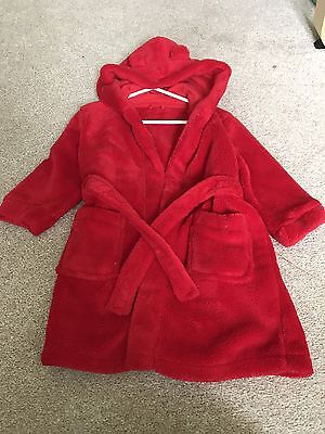 Baby Girl Towelling Robe/dressing Gown 18/24 Months Mothercare
