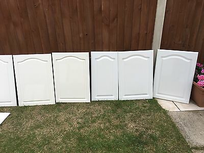 MFI Howdens White Gloss Cathedral Style Kitchen Cupboard Doors