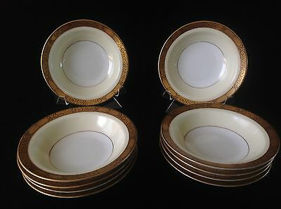 "Noritake ""Goldkin"" Berry Bowls / Fruit/ Sauce Set of 10 #4985 Excellent Cond."