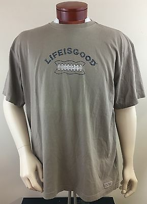 LIFE IS GOOD Men's Football Laces T-Shirt Size XL NEW