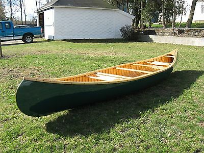 NEW! Top quality WOOD and CANVAS canoe.