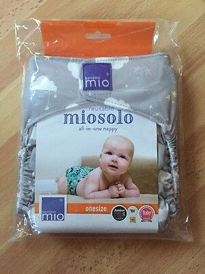 Brand New Miosolo Cloud Nine  Reuseable Cloth Nappy One size/birth to potty