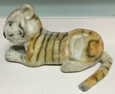 Vintage 1950's Large Steiff Tiger-Mohair-Green Glass Eyes