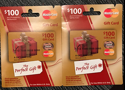 $200 MC (2) $100 Mastercard - Free Priority Ship FAST ACTIVATED W/ RECEIPT