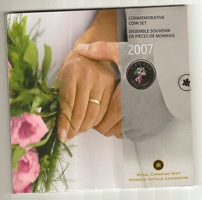 2007 Wedding Coin Set - New In Package - 7 Coin Set - Colored Quarter - Bouquet