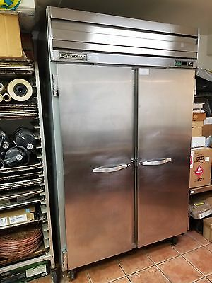 Beverage Air Commercial Stainless Steel Double Doors Refrigerator / Cooler