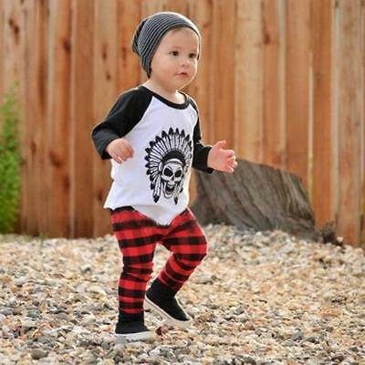 Toddler Baby Boy T-shirt Tops+Long Pants Trousers Outfits Clothes 18M