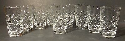 """*VINTAGE* Waterford Colleen Style Crystal 9 Tumblers 4"""" 6 ounce"""