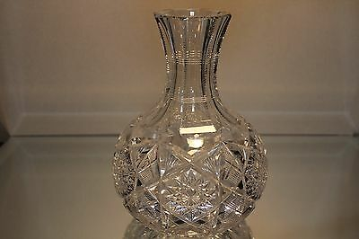 AMERICAN BRILLIANT ABP cut glass Water Carafe by Libbey Signed Mint