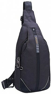 8ba8f604af39 Mens Anti-theft Sling Bag Chest Shoulder Backpack Cross Body Pack Bags  Hiking