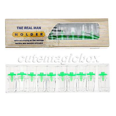 50Pcs Cigarette Tobacco Filter Reusable Clean Smoking Health Protector 25x9.5mm