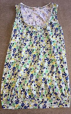 Maternity Tank Top XS Old Navy Floral Fitted, Rouched Sides