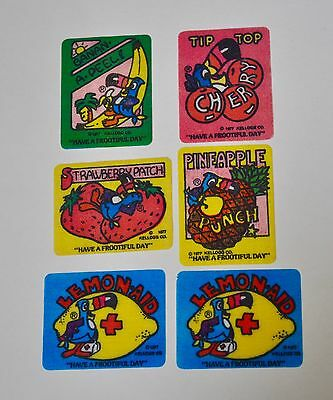 6 Kellogg's Cereal 1977 Have A Frootful Day Fruit Patches