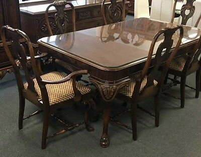 Antique Berkey And Gay Walnut Dining Room Set