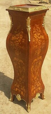 superbly inlaid and ornate Rosewood Louis XV style stand