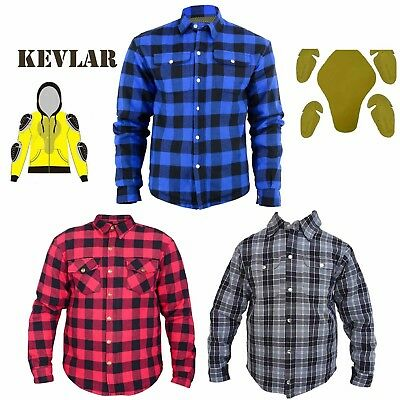 Motorcycle Cotton Flannel Lumberjack Reinforced with DuPont™ KEVLAR® Shirt Top