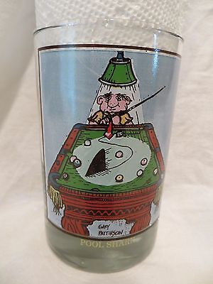 Arbys Collector Glass Gary Patterson 1980s Sport Pool Shark EXCELLENT